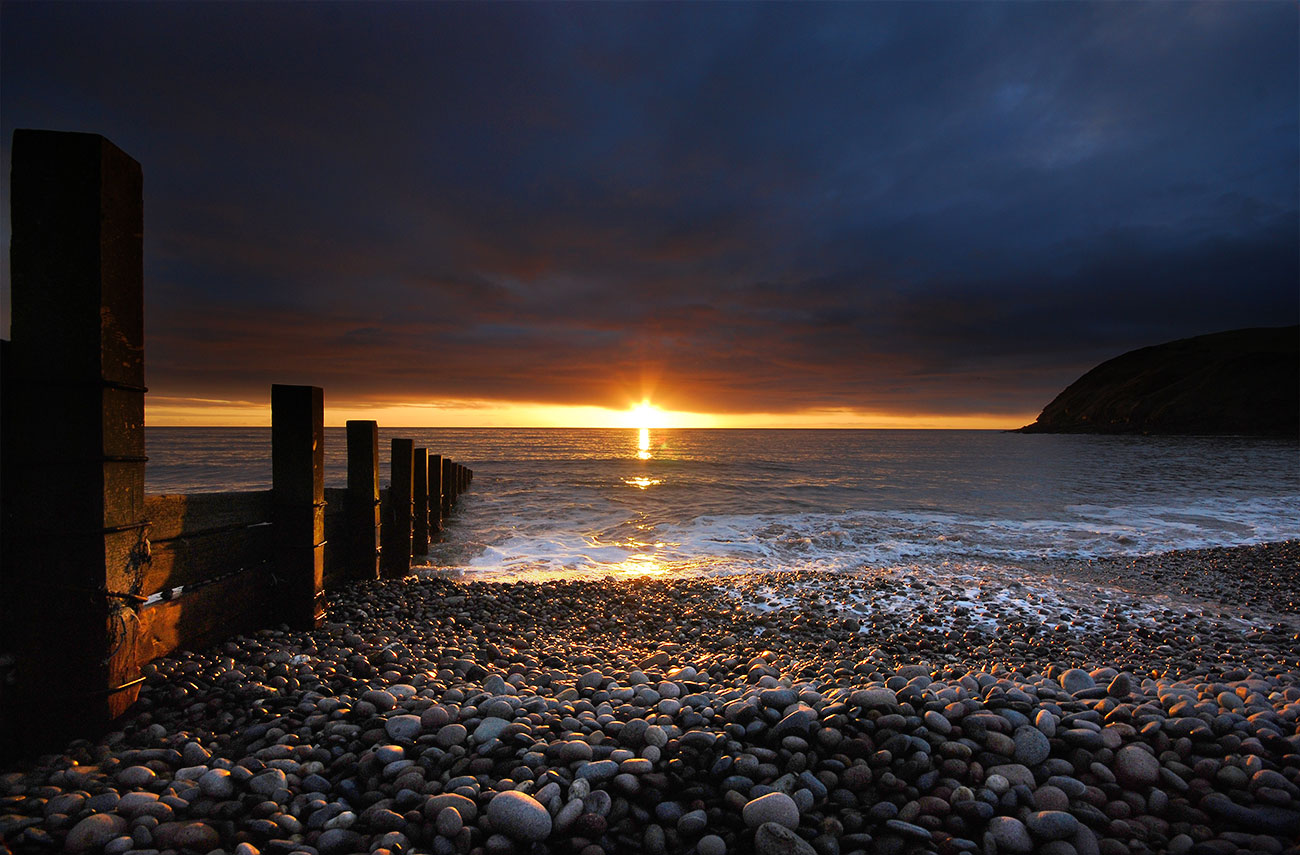 Sunset at St Bees, Lake District.