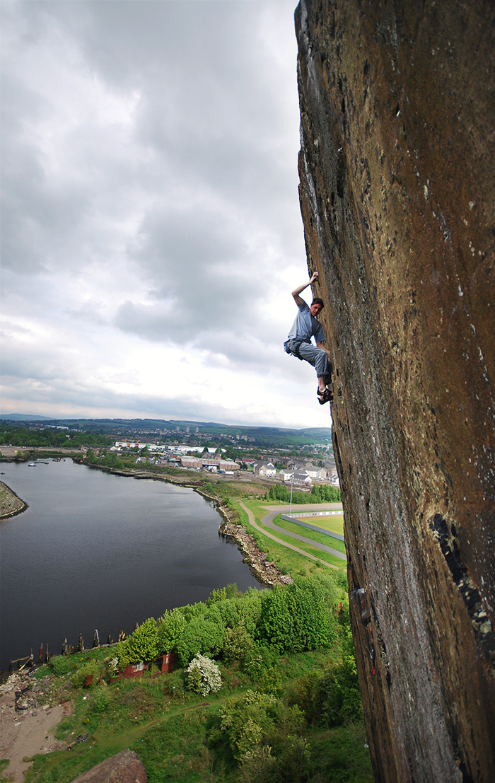Will Atkinson on Requiem, Dumbarton Rock.